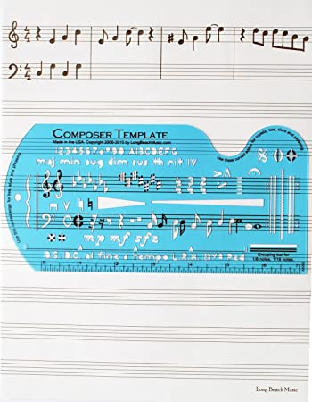 Music Paper Template. Musical Staff Metal Cutting Dies Stencils