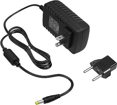 HQRP Adaptador de CA para Concertmate 1000 1000M 1070 410 660 670 680 690 900 970 980 Adaptador de Cable de alimentación de Teclado Radio-Shack + ...