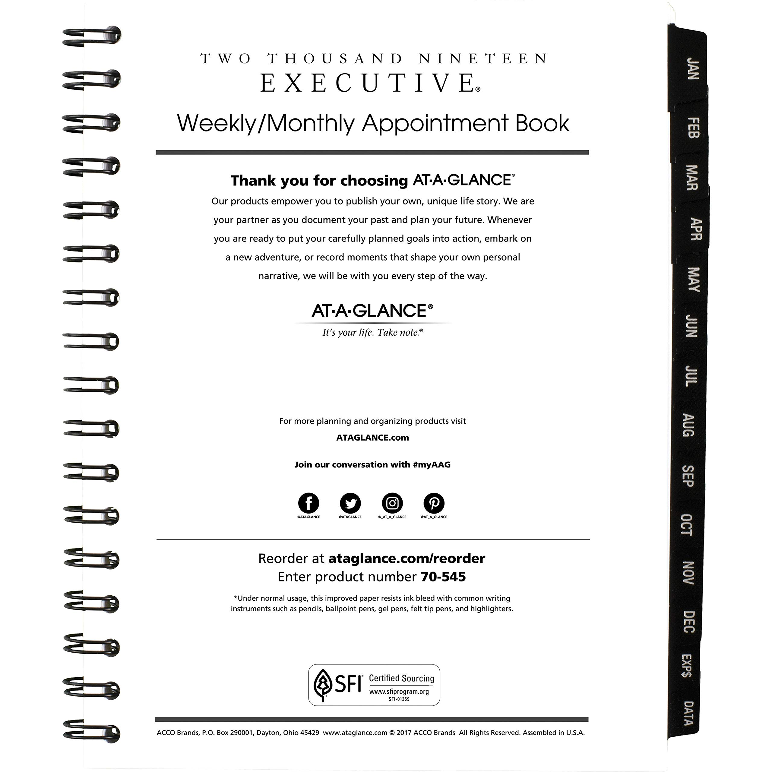 At-A-Glance, 7090810, Executive Weekly/Monthly Appointment Book Refill, 6 7/8'' x 8 3/4'', 2/Pack, Sold As 1 Pack by AT-A-GLANCE