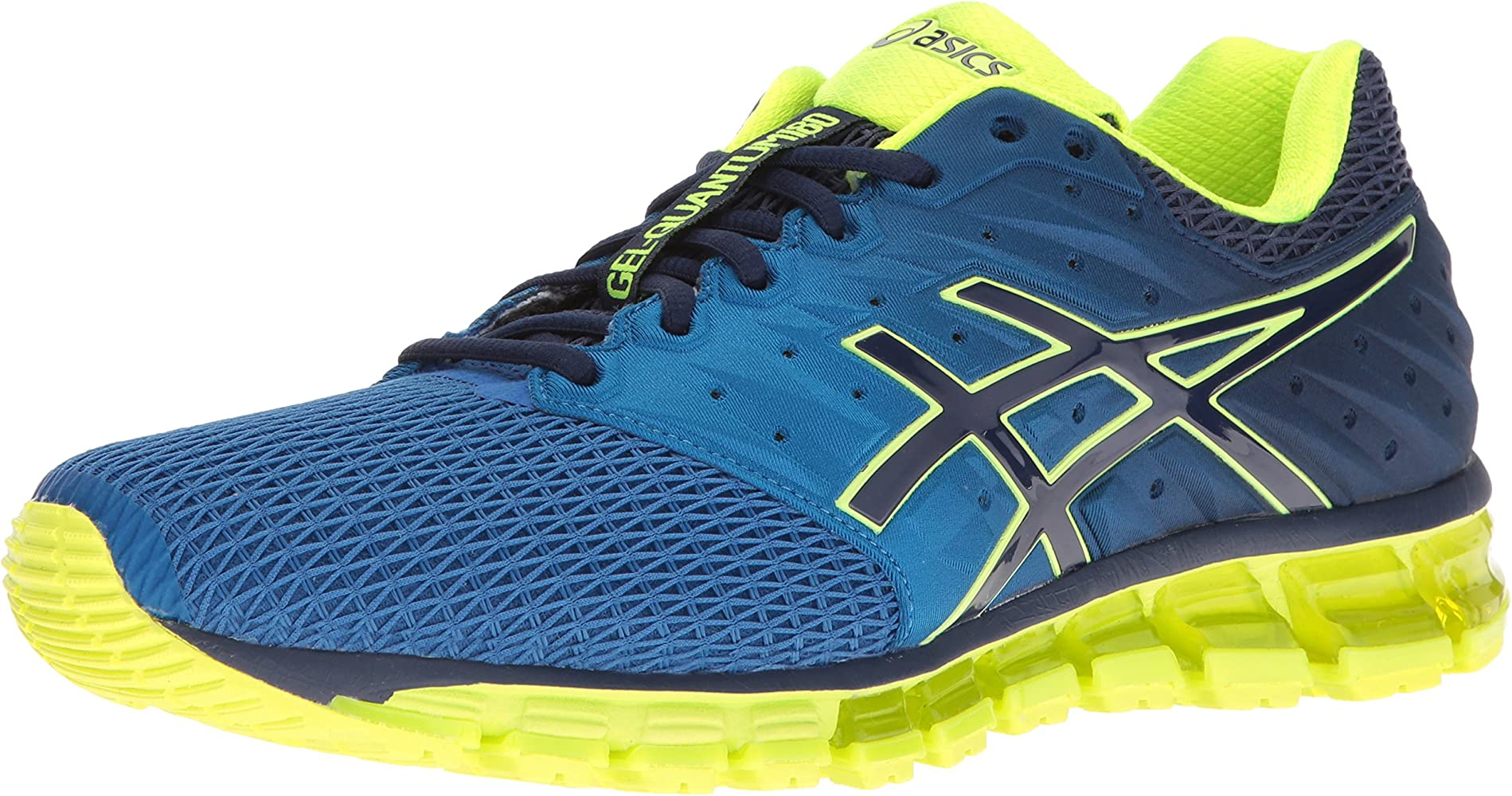 ASICS Mens Gel-Quantum 180 2 Running Shoe, Imperial/Safety Yellow ...