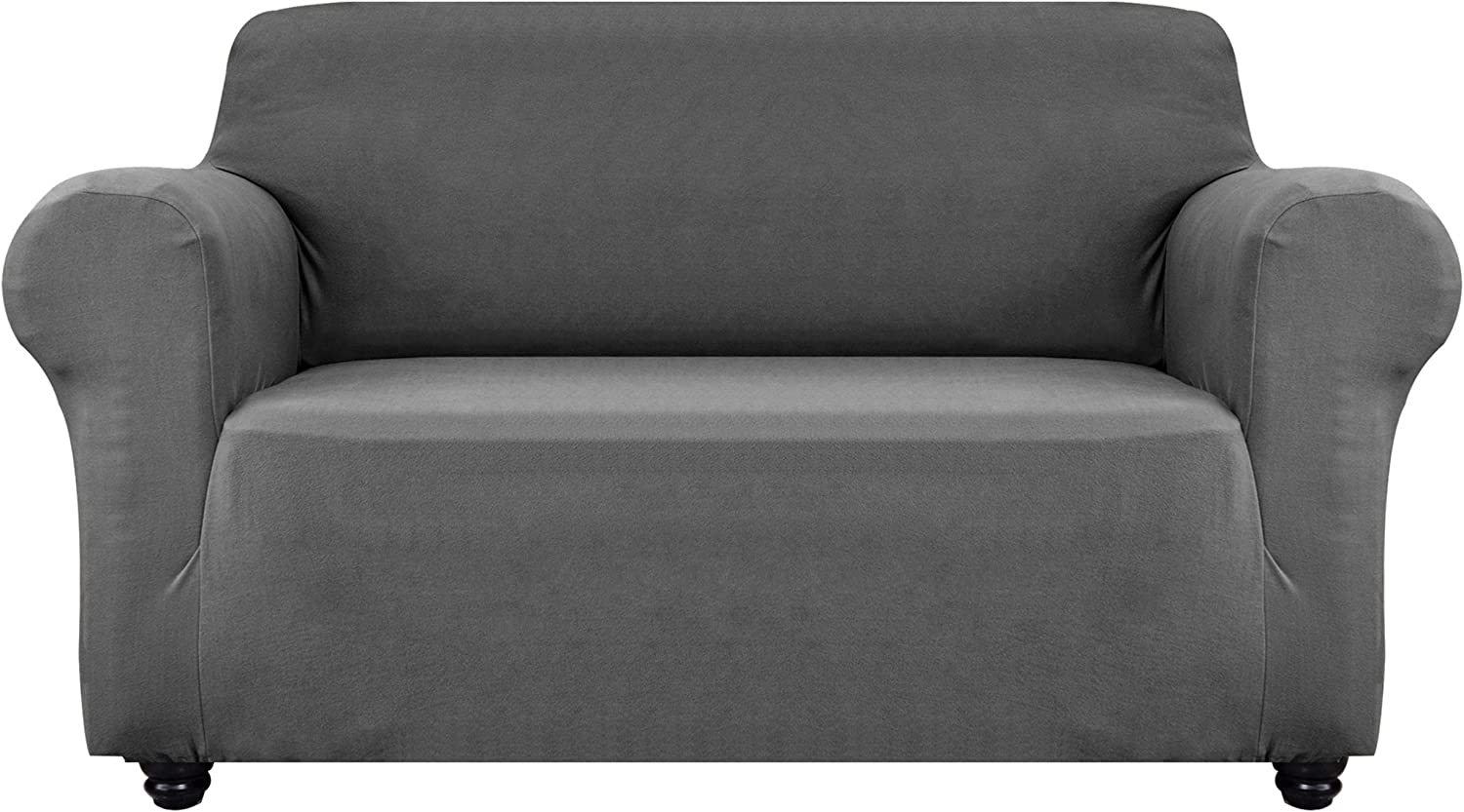 Obytex Stretch Sofa Cover Soft and Comfortable Upgrade Pattern Couch Covers Dog Cat Pet Slipcovers Furniture Protectors (Medium, Grey)