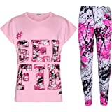 Kids Girls Top Love T Shirt & Splash Print...