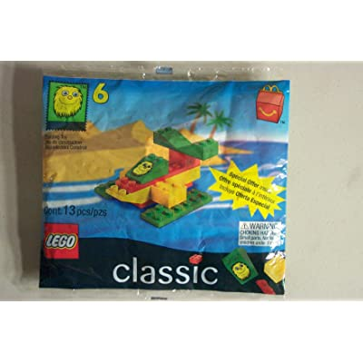 1999 Mcdonals Happy Meal #6 Lego # 2047 Yellow Fry Guy Seaplane: Toys & Games
