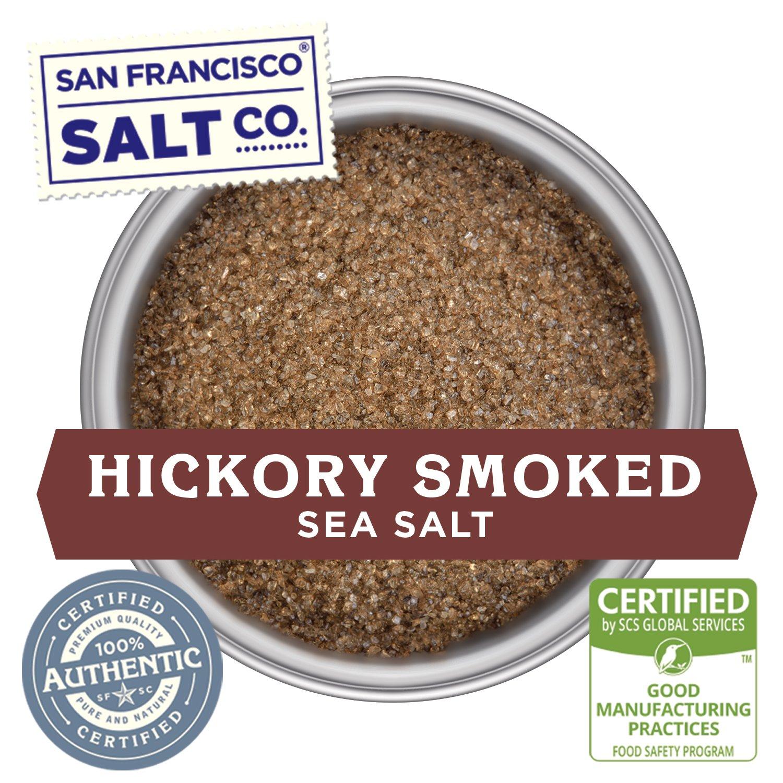 Stackable Salt Shakers – HOME CHEF HERO GIFT SET – Sherpa Pink Himalayan Salt, French Grey Sea Salt, Hickory Smoked Sea Salt, Black Truffle Sea Salt, Pacific Sea Salt, Lemon Rosemary Sea Salt by San Francisco Salt Company (Image #4)