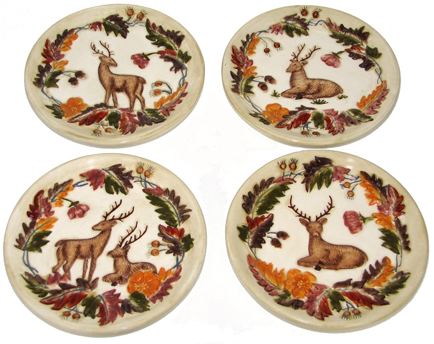 Amazon.com Manual Grand Lodge Wildlife Autumn Deer Buck Doe Mini Plates - Set of 4 Home u0026 Kitchen  sc 1 st  Amazon.com & Amazon.com: Manual Grand Lodge Wildlife Autumn Deer Buck Doe Mini ...