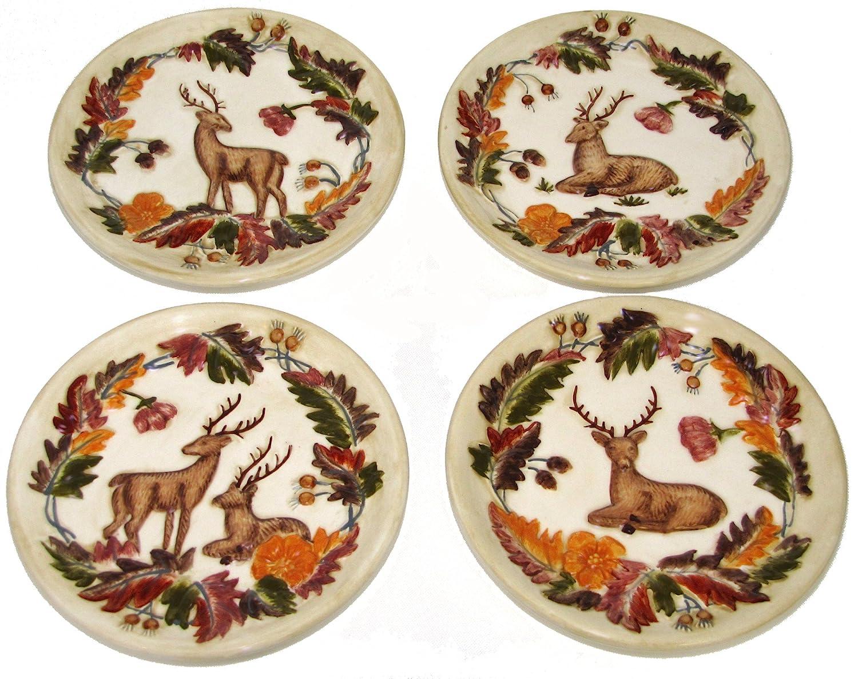 Amazon.com Manual Grand Lodge Wildlife Autumn Deer Buck Doe Mini Plates - Set of 4 Home \u0026 Kitchen  sc 1 st  Amazon.com & Amazon.com: Manual Grand Lodge Wildlife Autumn Deer Buck Doe Mini ...
