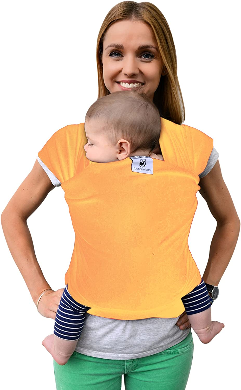 Baby Wrap Sling /»Fastique Kids/« B//W Free eBook Baby Carrier Multiple Positions Soft and Lightweight Sling for Newborn Toddlers /& Infants from Birth