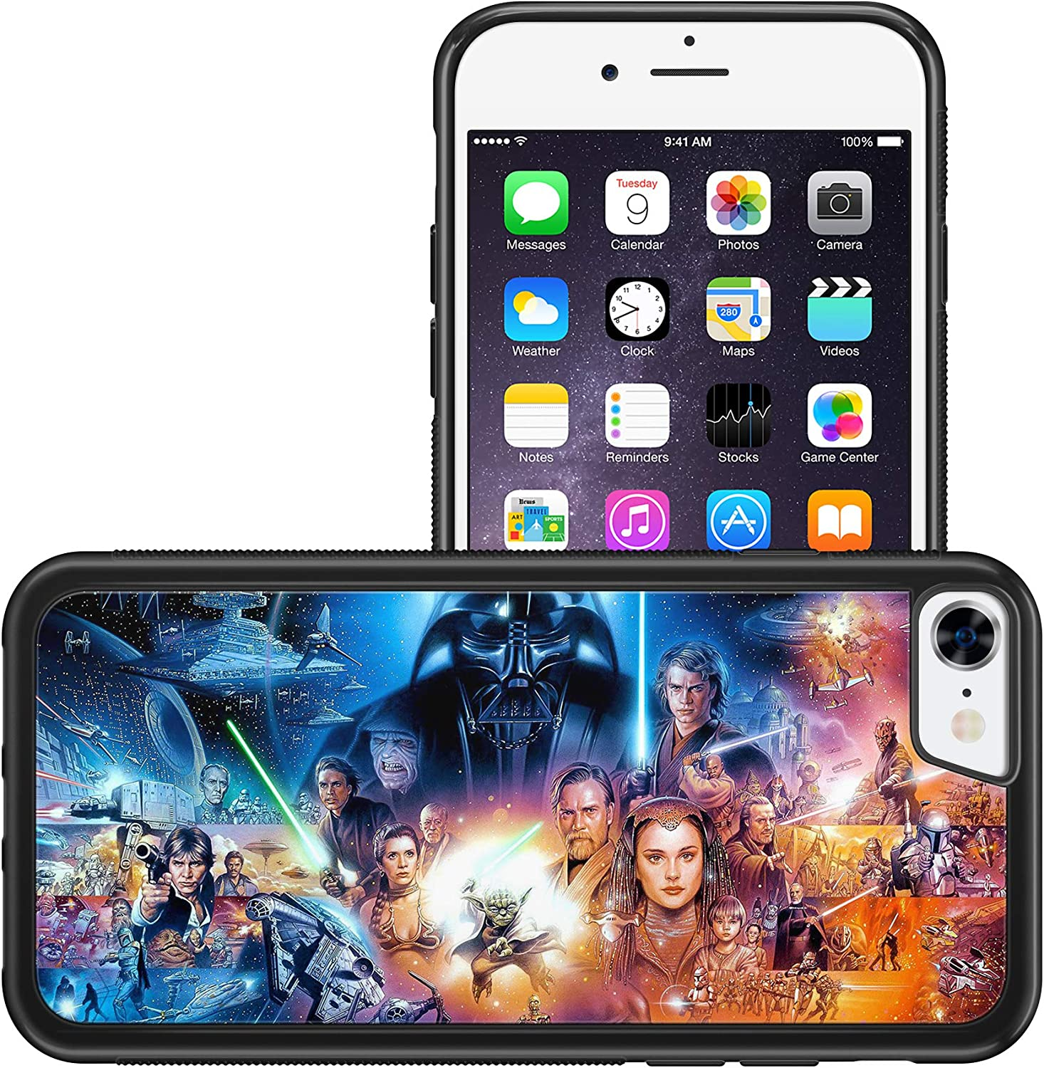 Action Star Wars Characters Wallpaper Bumper Phone Case Iphone 7 8 Amazon Co Uk Electronics