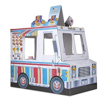 Melissa Doug Food Truck Indoor Corrugate Playhouse
