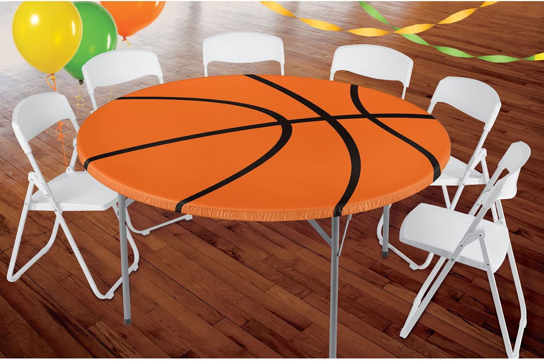 ShindigzバスケットボールラウンドFittedテーブルカバー、1のパック