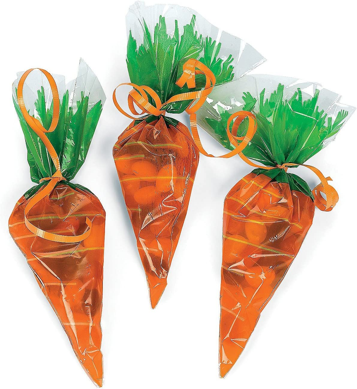 Amazon Com Cellophane Carrot Shaped Goody Bags 1 Dozen Home Kitchen