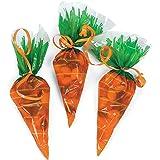 Cellophane Carrot-Shaped Goody Bags ( 1 dozen)