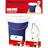 Shalimar Premium Garbage Bags (Medium) Size 48 cm x 56 cm 4 Rolls (120 Bags) (White Color)