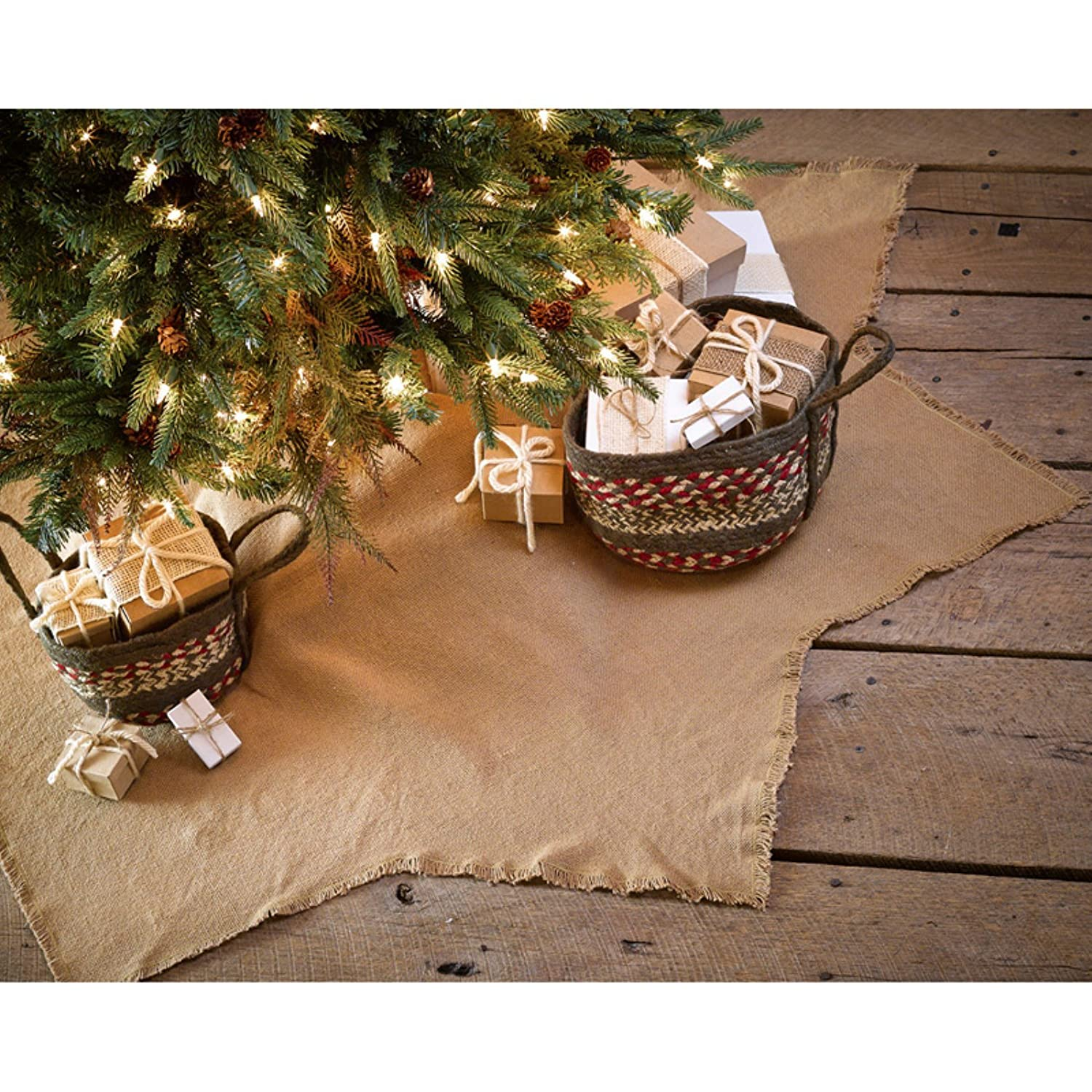 "Amazon Burlap Natural 8 Point Star 48"" Diameter Holiday Tree"