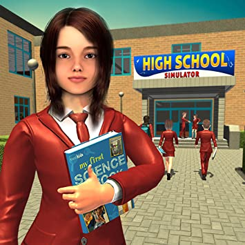 Amazon com: High School Girl Simulator Game, Virtual Life