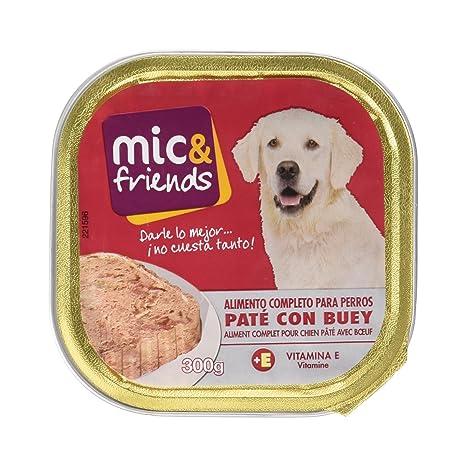 Mic&Friends Paté Con Buey, Alimento Completo para Perros - 300 g