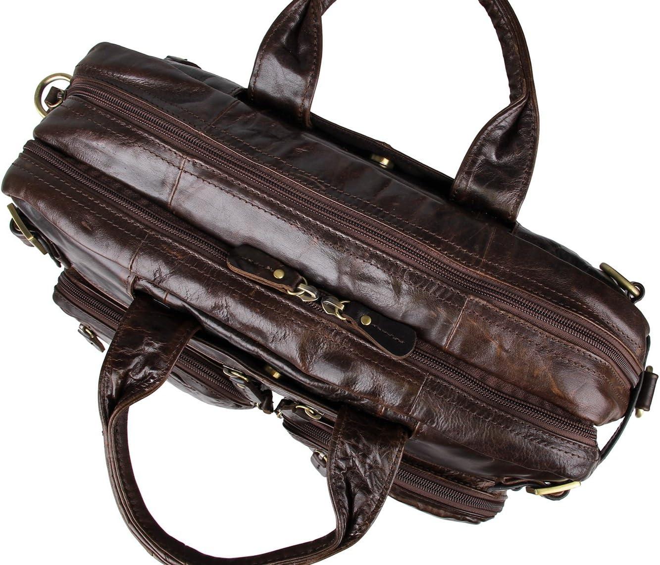 M43Darkbrown Sac de Messager M43 Sac dordinateur Portable Sac /à Dos AB Earth pour Homme en Cuir V/éritable Malette