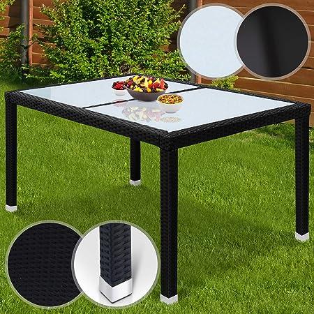 MIADOMODO Table de Jardin Polyrotin | Aluminum, 130x90x74 cm ...