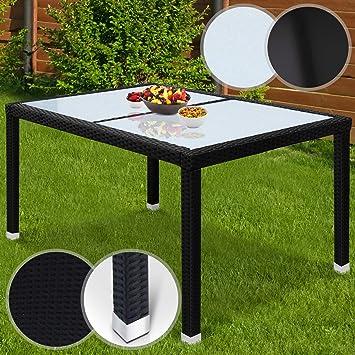 Miadomodo Table de Jardin Polyrotin | Aluminum, 130x90x74 cm, en ...