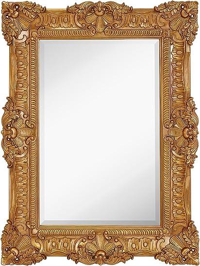 Hamilton Hills Large Ornate Gold Baroque Frame Mirror