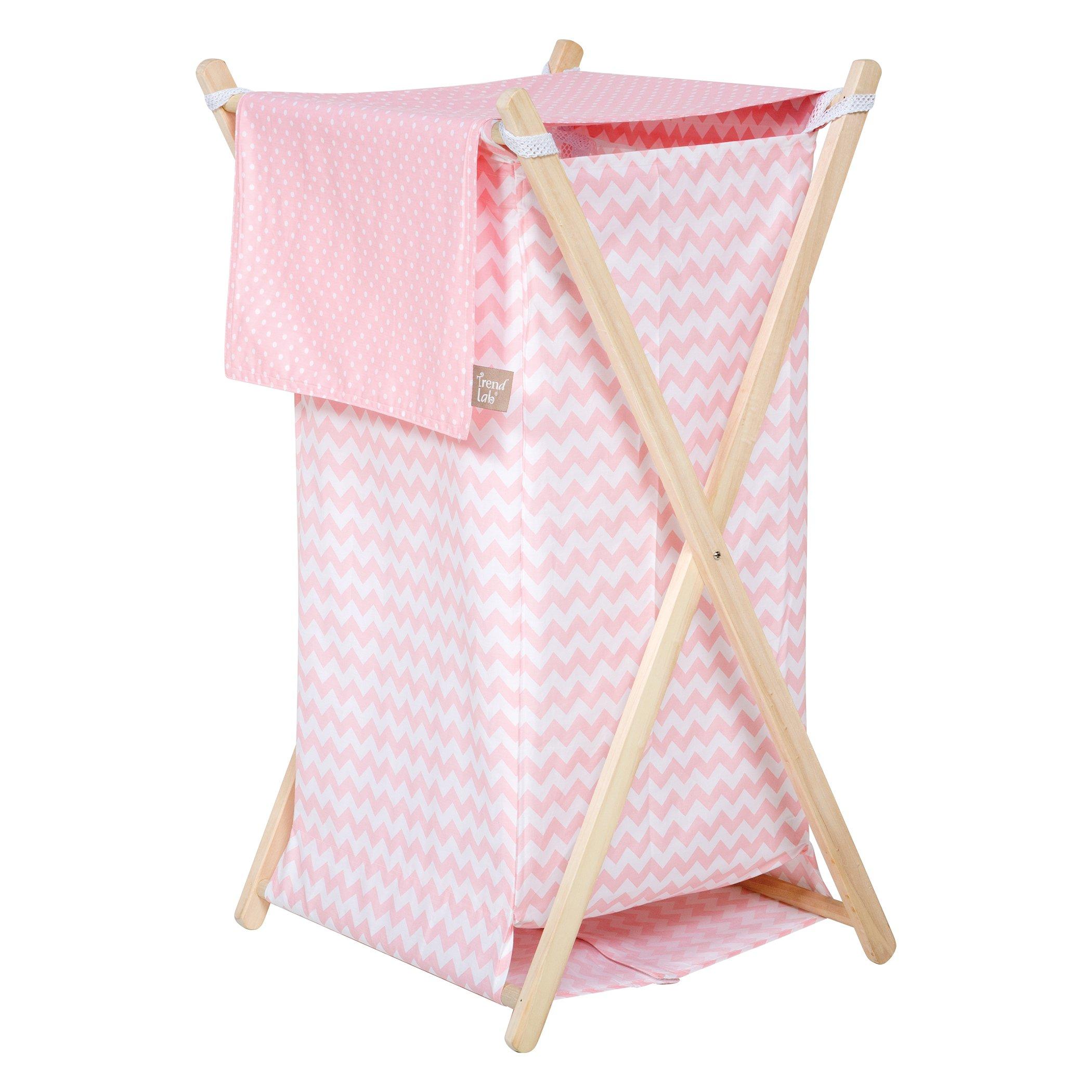 Trend Lab Sky Hamper Set, Pink by Trend Lab