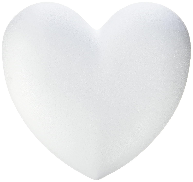 Glorex 63803869K di polistirolo Cuori, polistirolo, Bianco, 14X 11, 5x 2cm GLOREX GmbH 6 3803 869K