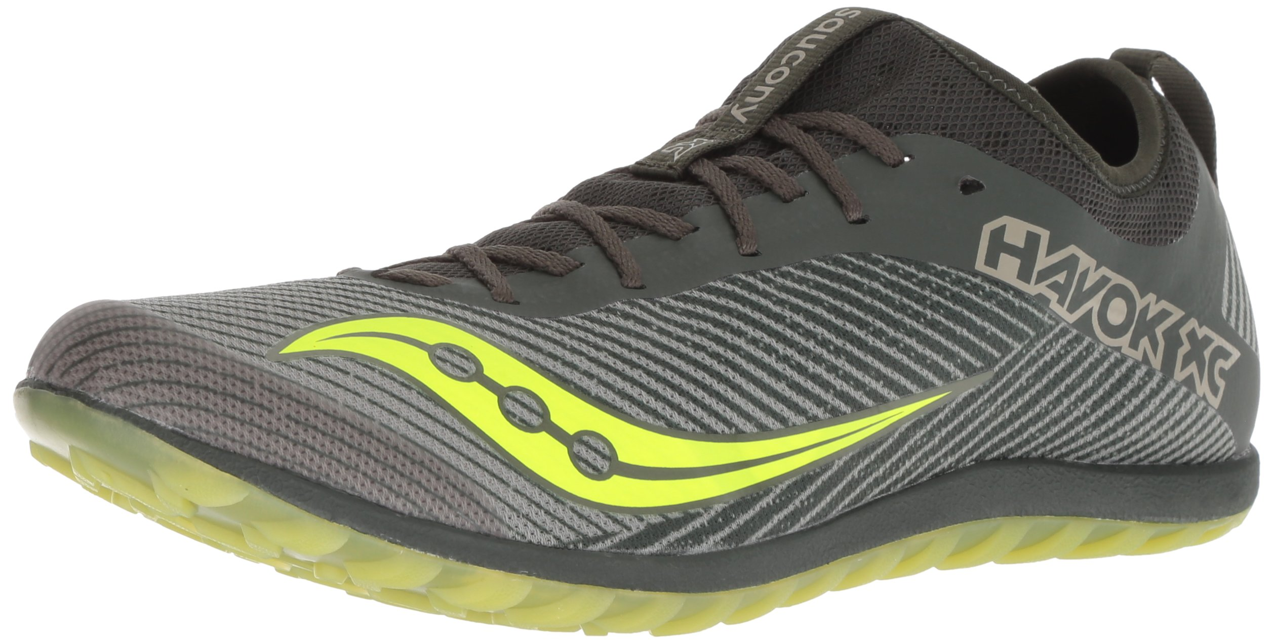 Saucony Men's Havok XC2 Flat Track Shoe, Green/Citron, 13 M US by Saucony