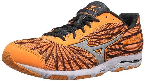 best website 2dd25 879d4 Mizuno Women Wave Hitogami 4 Running Shoe Orange Grey 6 B US