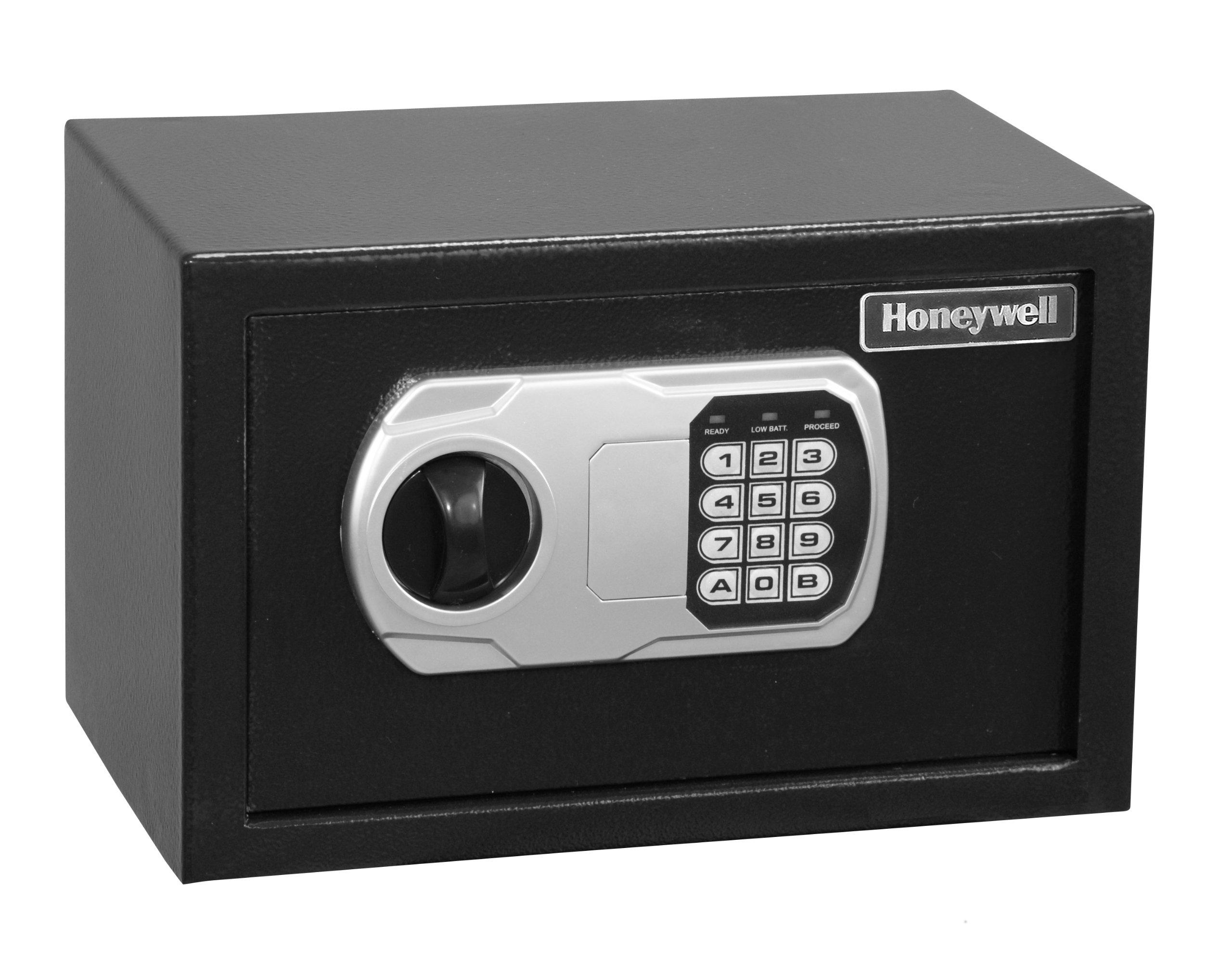 HONEYWELL - 5101DOJ Approved Small Security Safe with Digital Lock, 0.27-Cubic Feet, Black by Honeywell Safes & Door Locks