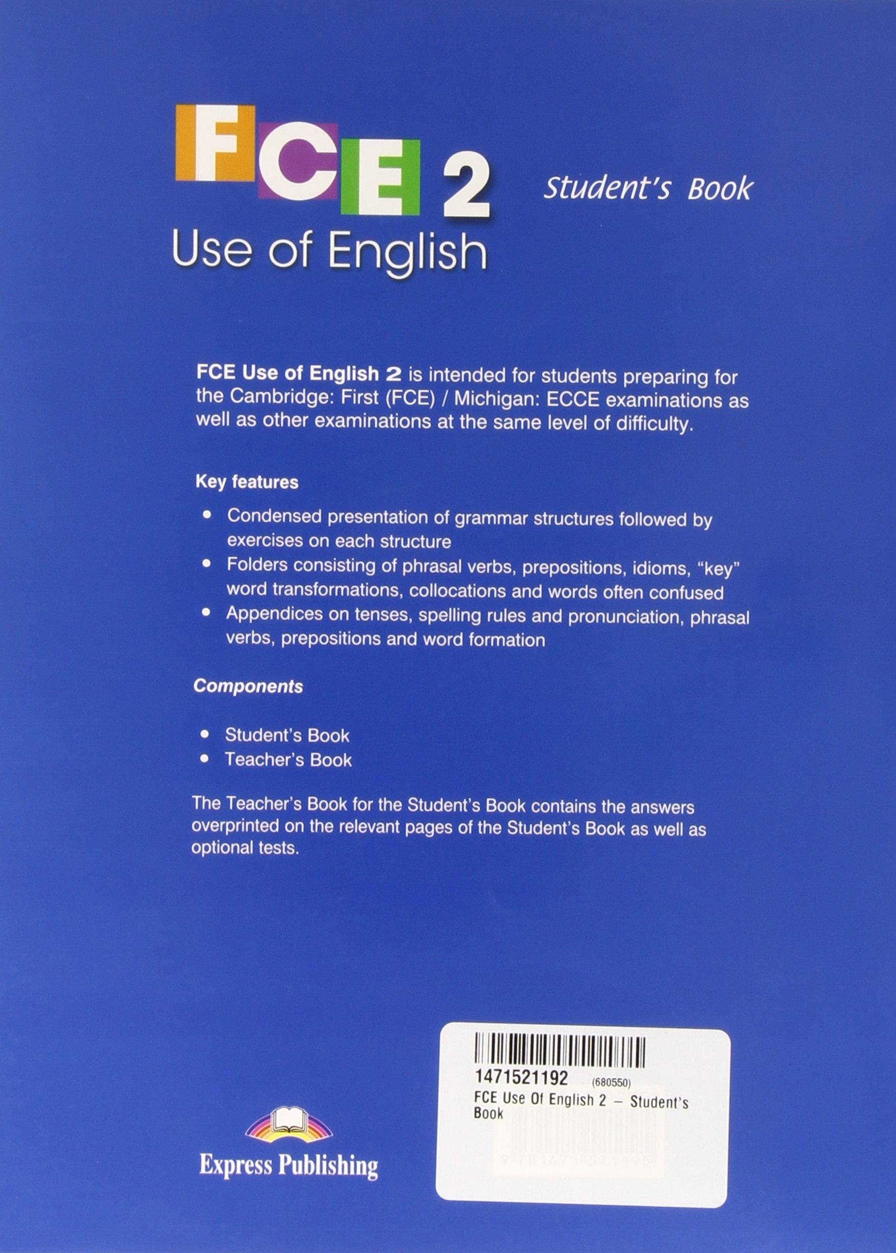 FCE Use of English: Teachers Book Level 2