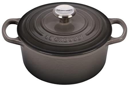 Le Creuset Signature Enameled Cast-Iron 2-Quart Round French Dutch Oven, Oyster