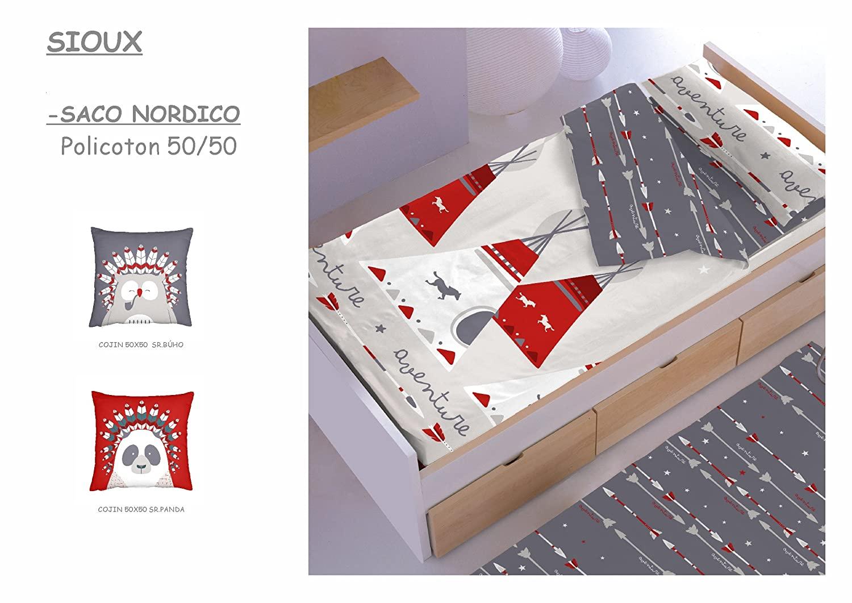 Saco Nórdico CON Relleno ref.SIOUX para cama de70 x 160 cm.: Amazon.es: Bebé