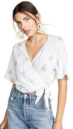 d9731ce6ec67d5 Rails Women's Athena Blouse, White Vintage Palms, X-Small