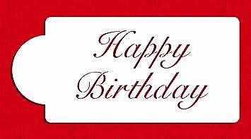 Amazoncom Designer Stencils C241 Fancy Happy Birthday Cake