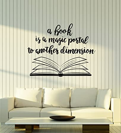 Amazon Com Book Quote Vinyl Wall Decal Reading Room Book