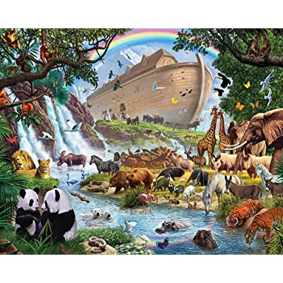 Vermont Christmas Company Noah's Ark Jigsaw Puzzle 1000 Piece: Toys & Games