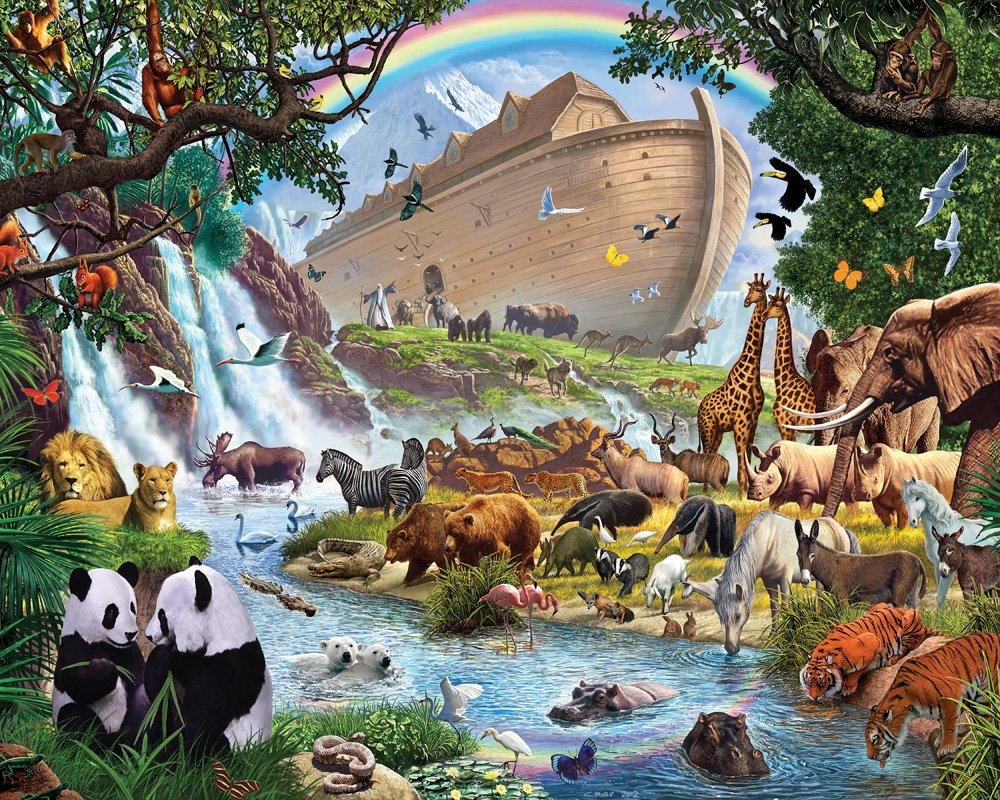 Amazon Vermont Christmas Company Noahs Ark Jigsaw Puzzle 1000 Piece Toys Games