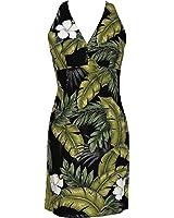 Sexy Halter - Hibiscus Garden Women's Fitted Dress