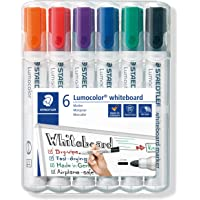 Staedtler Whiteboard Marker Lumocolor bullet point Assorted, Wallet of 6 (351 WP6)