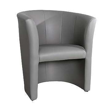 Stylischer Art Deco Graphit Sessel Clubsessel Wohnzimmer.