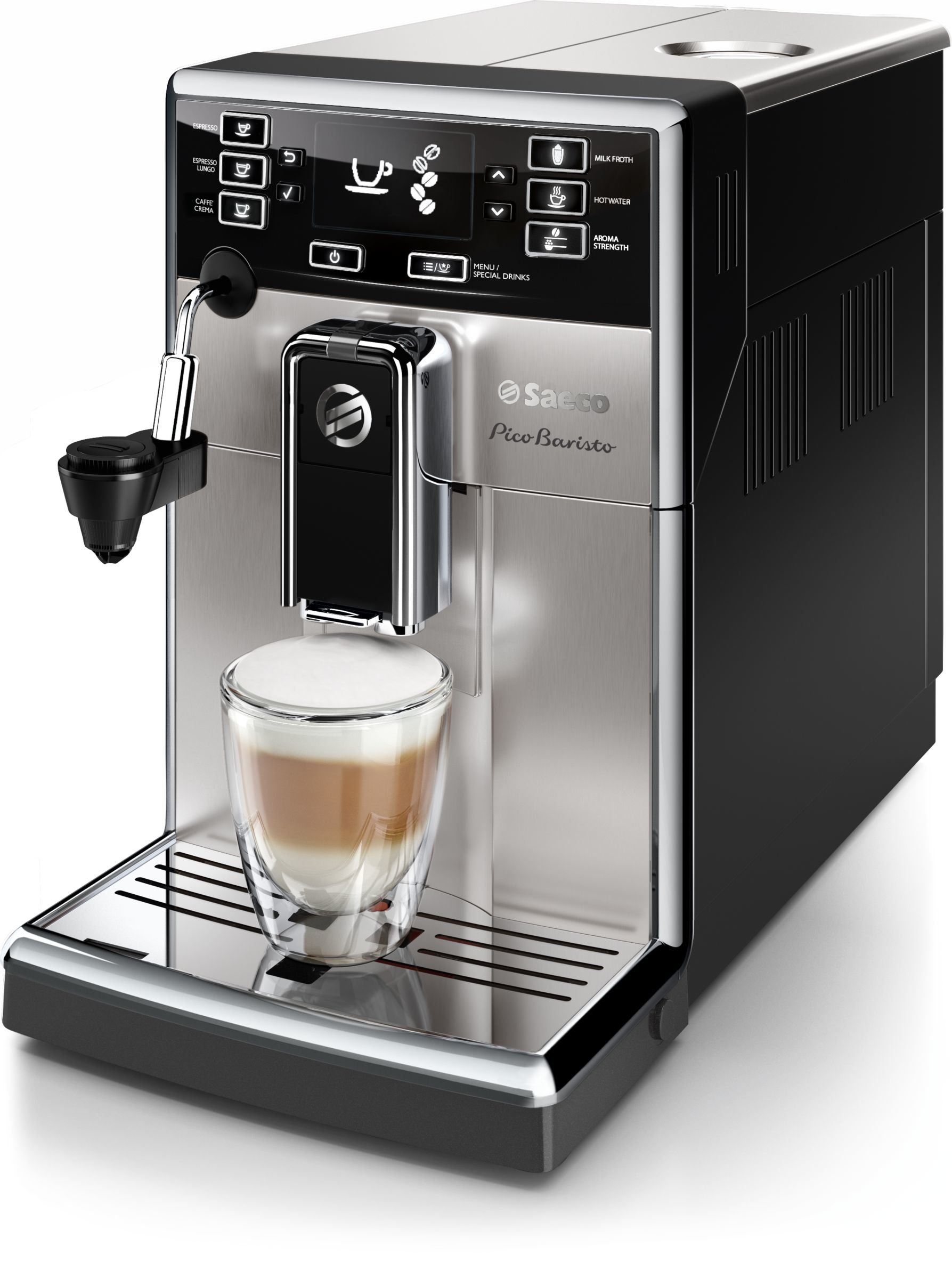 Saeco HD8924/47 PicoBaristo Automatic Milk Frother Espresso Machine, Stainless Steel