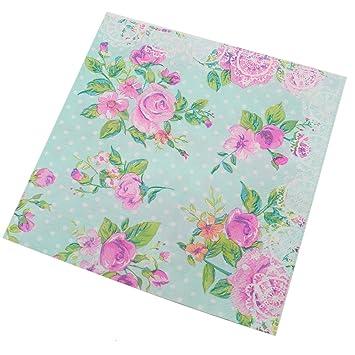 Amazon buorsa 60 pcs vintage blue floral paper napkins for buorsa 60 pcs vintage blue floral paper napkins for bridal shower tea party birthday or wedding mightylinksfo