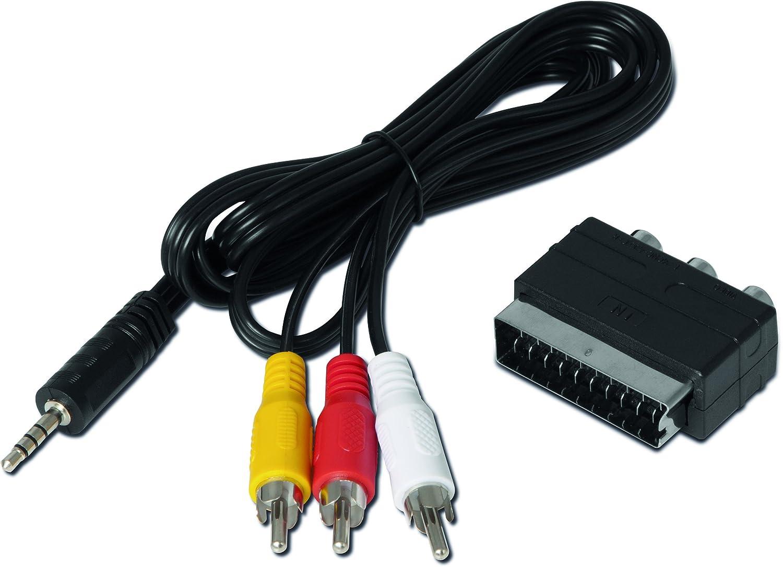 f/ür TechniSat Receiver, passend zu DIGIPAL T2 HD und DIGIPAL T2 DVR, DIGIT S3 HD, DIGIT S3 DVR TechniSat Klinken-Cinch//SCART Adapterset schwarz