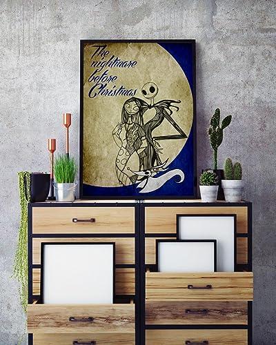 the nightmare before christmas poster jack skellington minimalist print jack sally home decor