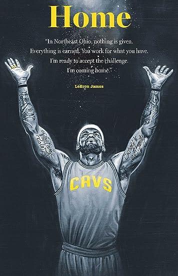 1170eeea3073a Lebron James Cleveland Cavaliers Basketball Limited Print Photo Poster  36x24 #1