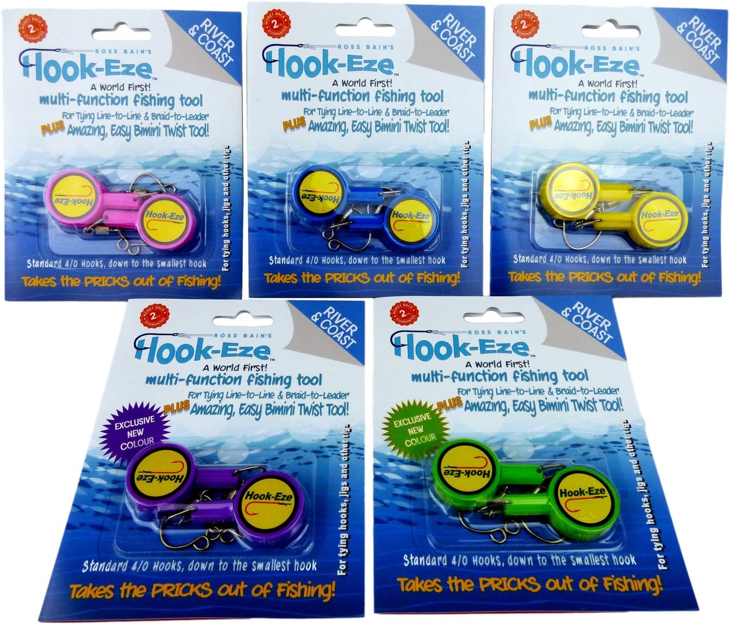 Hook-Eze Fishing Luxury goods Tool - 5 Twin Safety Packs Tying Devic Hook Max 84% OFF