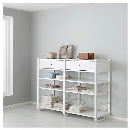 IKEA ELVARLI - 2 secciones blancas: Amazon.es: Hogar