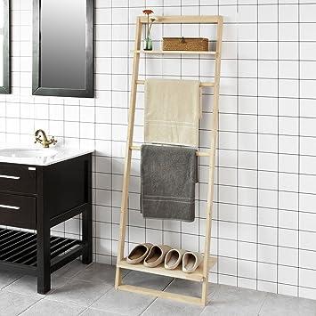 SoBuy® - Estante de escalera para toallas de baño, perchero ...
