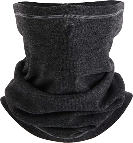 GREY MULTI-USE BALACLAVA NECK-WARMER TUBE HEADBAND CAP SNOOD FACE MASK