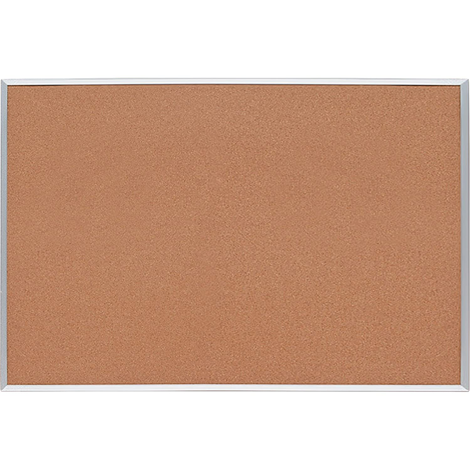 Sparco Cork Board, 1/2 Inches Thick, 4 x 3 Feet, Aluminum Frame (SPR19765) S.P. Richards Company